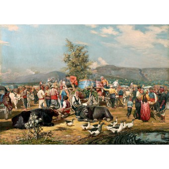 Пазар на грозде в Евксиноград - 1894
