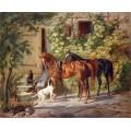Коне до портата (1843) РЕПРОДУКЦИИ НА КАРТИНИ