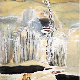 Зимна приказка. На път към Рилски манастир – 1926