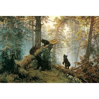 РЕПРОДУКЦИИ НА КАРТИНИ Утро в борова гора (1889)