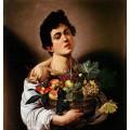 Момче с кошница плодове - 1593