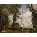 Катедралата в Солзбъри откъм епископската градина (1826) РЕПРОДУКЦИИ НА КАРТИНИ