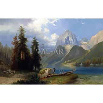 Ловец до планинско езеро (1878)