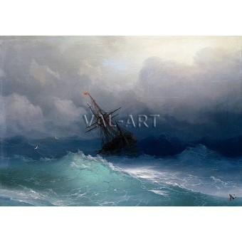 Кораб в бурно море (1890)