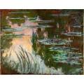 РЕПРОДУКЦИИ НА КАРТИНИ Водни лилии на залез слънце (1919)