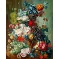 Плодове и цветя в керамична ваза (1777)