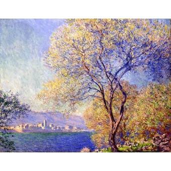 Гледка към Антиб от Салиските градини (1888)